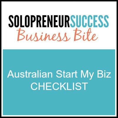 Solopreneur - Australia start my biz checklist